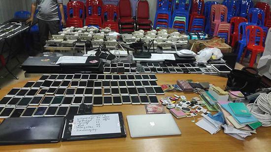 警方查获的作案工具。 长沙警方 图