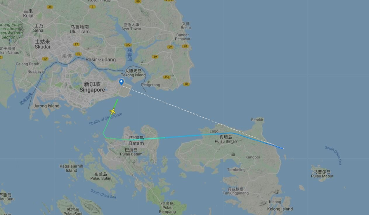 图:TR24航班飞行轨迹。来源:飞常准