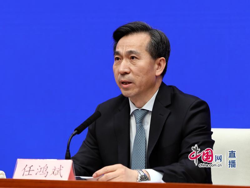 商务部部长助理任鸿斌(中国网 杨楠 摄影)