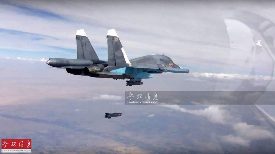 图为俄军苏-34战役轰炸机。