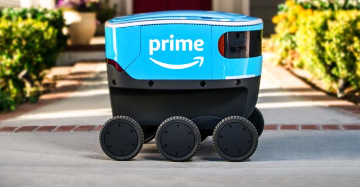 """盖世汽车讯 亚马逊公司(Amazon.com Inc.)已经开始实地测试其紧凑型、自动驾驶送货车""""亚马逊侦察兵""""(Amazon Scout)。"""