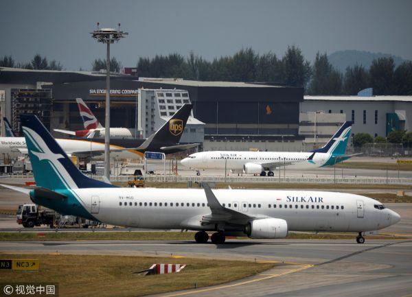 新加坡从3月12日下午2点起,暂时停飞进出该国的波音737 MAX飞机。(视觉中国)