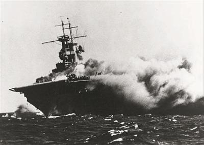 """二战传奇航母""""大黄蜂号""""残骸 自1942年沉没以来首次被发现"""