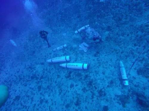 美军Mk63沉底雷水下布设图