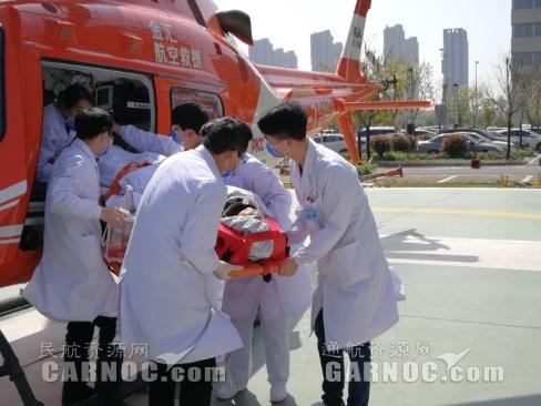 退役军人发生车祸  直升机20分钟完成救援