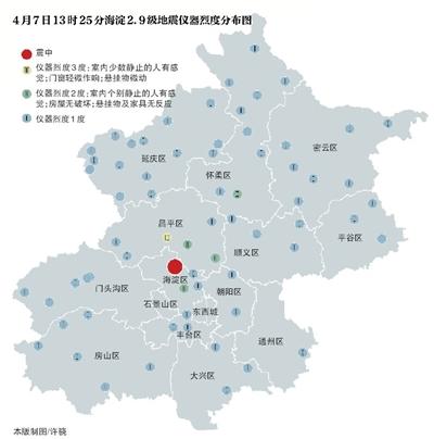 海淀发生2.9级地震 系正常事件无需恐慌