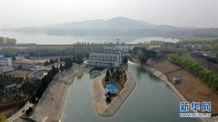 """这是4月11日无人机在天津市蓟州区拍摄的""""引滦入津""""工程重要调蓄水库于桥水库一景。新华社记者李然摄"""