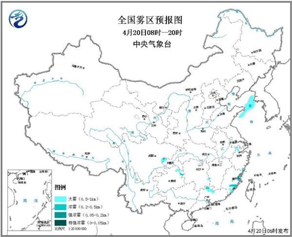 大雾黄色预警!广西贵州局地能见度不足500米