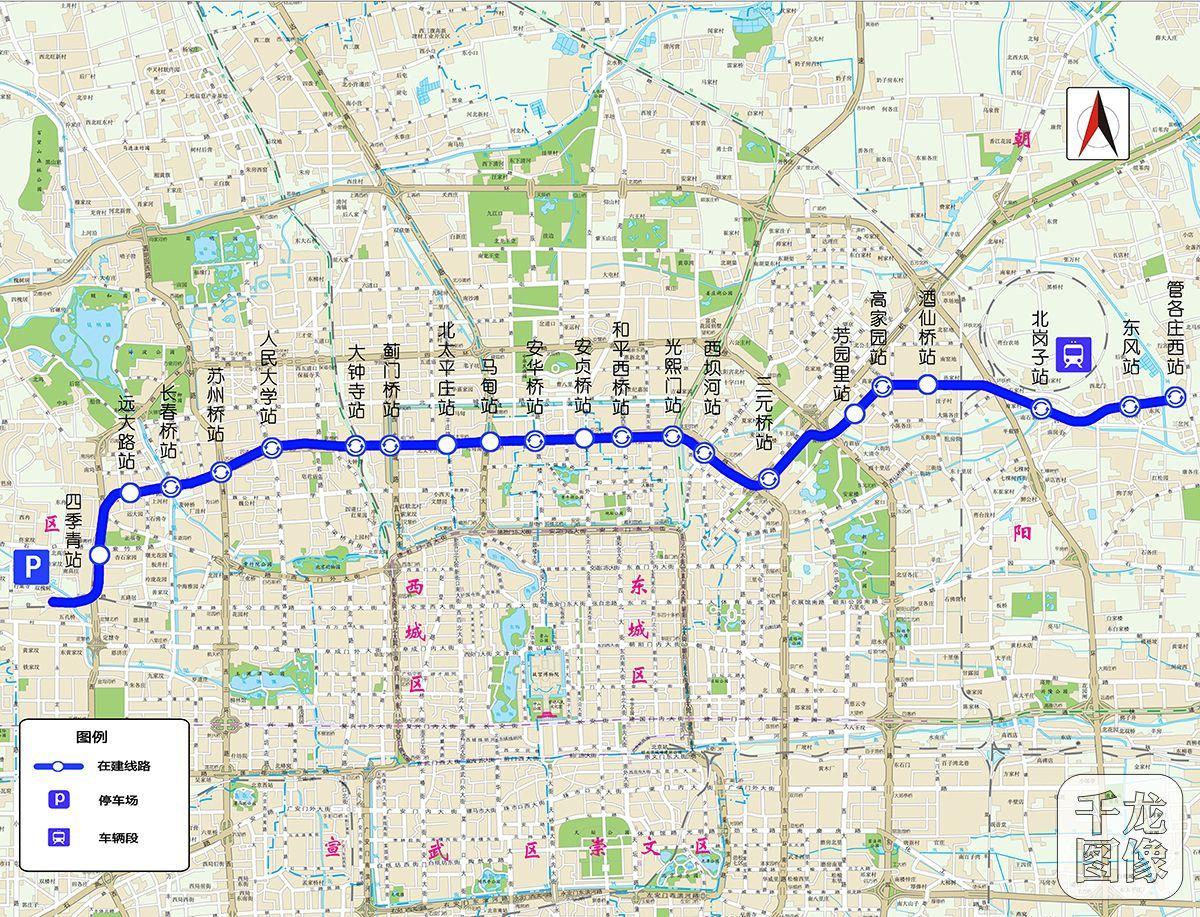 图为北京地铁12号线线路图.千龙网发