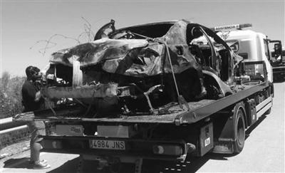 雷耶斯车祸曝光 时速达200公里