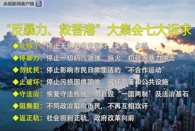 有市民在接受央视记者采访时表示,看到香港现在的情况痛心疾首,暴徒不能代表香港市民。