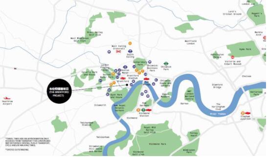 【布伦特福德项目坐落于泰晤士河岸,比邻伦敦绿色走廊】