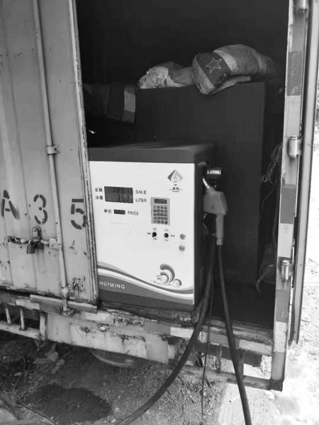 「做股票配资有风险吗」厢货车装油箱变身加油站