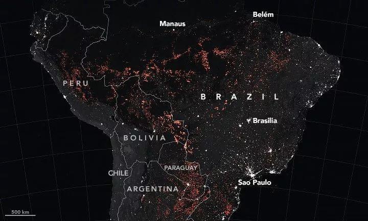 通过NASA卫星,带你看真实的亚马逊火灾