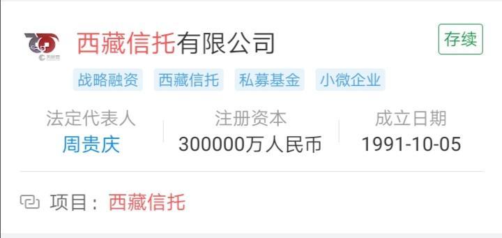增资20亿元!西藏信托成为年内第七家增资信托公司