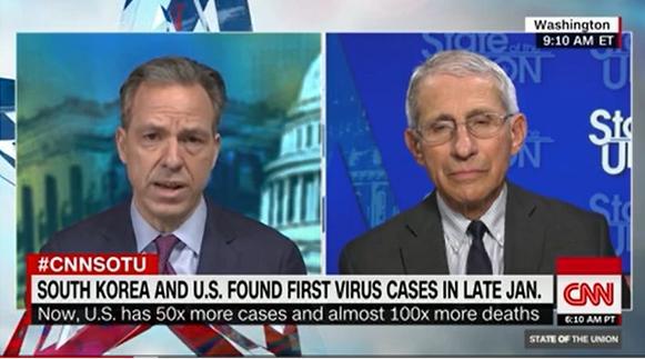 安东尼·福奇12日批准CNN采访
