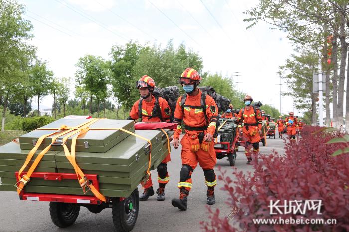 秦皇岛市消防救援支队开展地震救