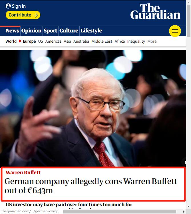惊呆!股神巴菲特太难了,竟遭50亿巨额诈骗,怎么中招的?