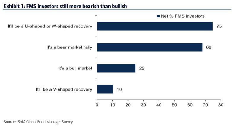 美国银行调查:投资者怀疑股市反弹能否持续