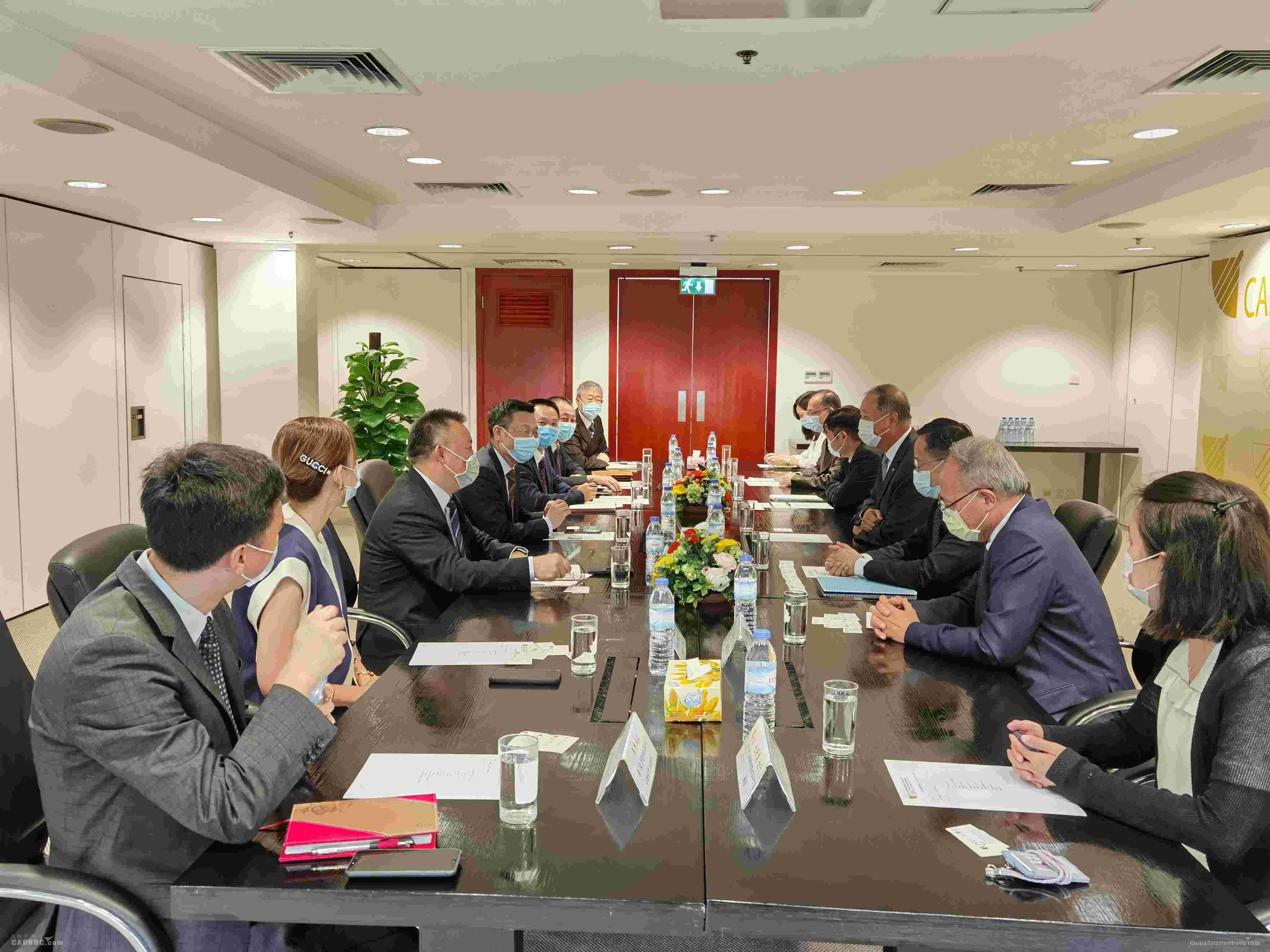 澳门机场执行委员会成员与澳门航空总经理一行会面