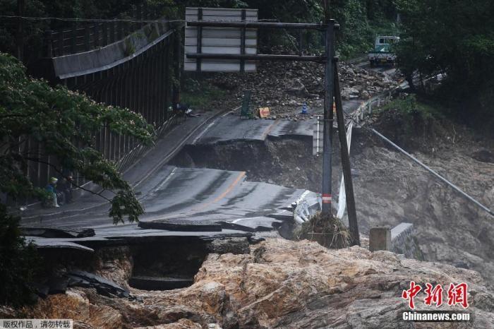 日本九州暴雨已致59人死亡 多地10日将迎新一轮强降雨