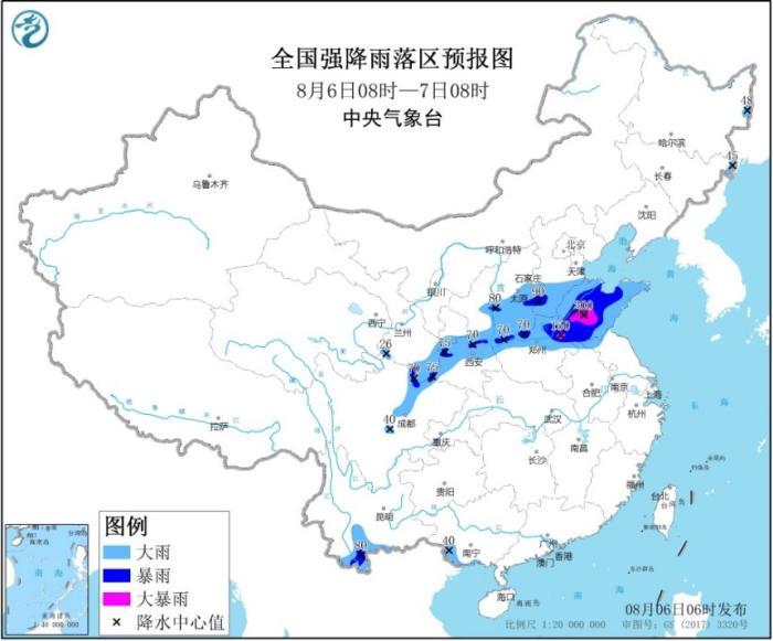 暴雨黄色预警:甘肃陕西四川等多地有大到暴雨