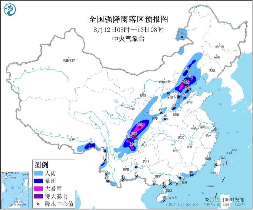 京津冀四川等地局地有大暴雨 北京全市公园景区12日采取关闭措施