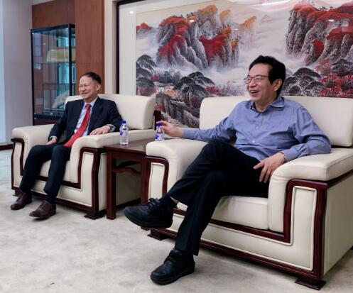 潘光伟专职副会长会见东亚银行(中国)有限公司执行董事兼行长何舜华