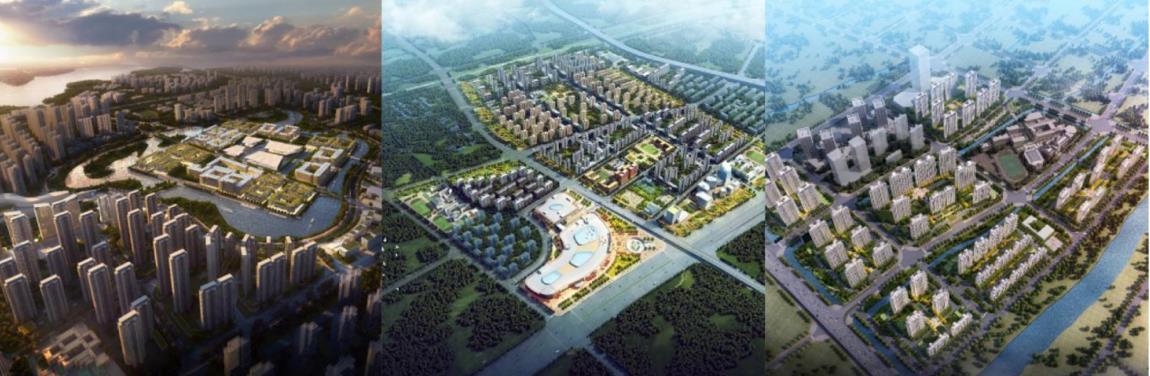 (2020年新获取的武汉方岛智慧科学城、天津上东金茂智慧科学城、苏州常熟智慧科学城项目)