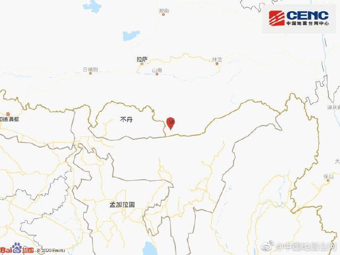 西藏山南市错那县发生3.0级地震 震源深度10千米
