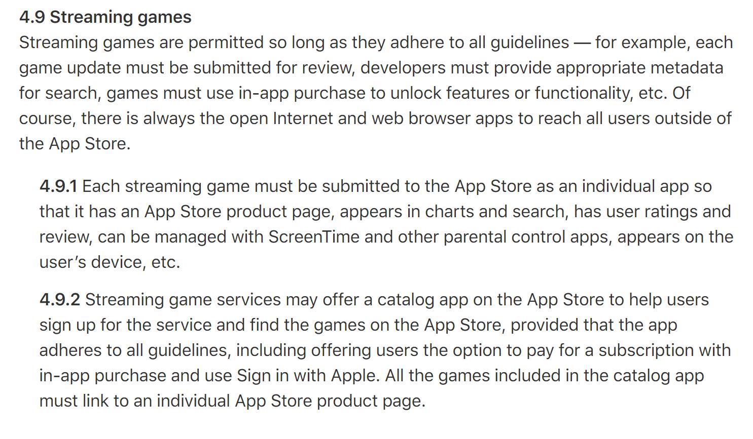 """苹果更新应用商店审核指南:新增""""云游戏""""平台上架标准 游戏下载必须走App Store渠道"""