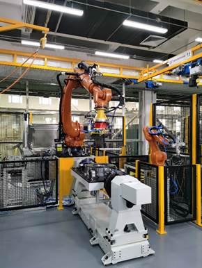 廊坊智能制造基地机器人智能组装