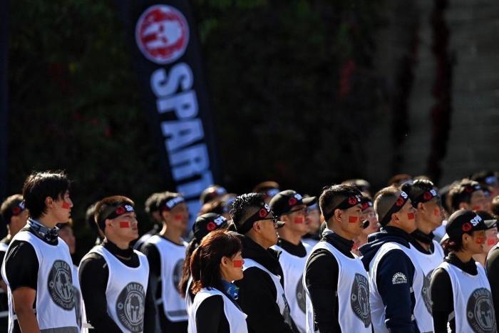 斯巴达勇士飓风赛首登金山岭长城 三大洲勇士挑战极限