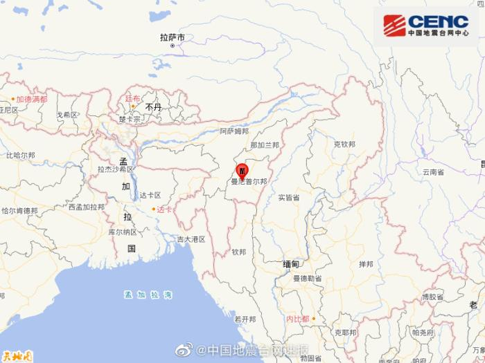 印度发生5.1级地震,震源深度40千米