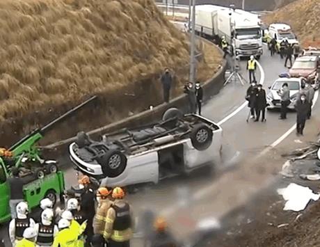 韩国高速车祸中国公民6死4伤 警方:未系安全带是主要原因