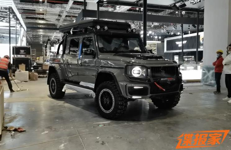 2021上海车展探馆:巴博斯爆改版G 63