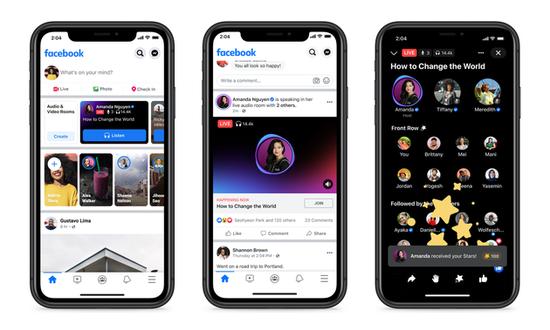 Facebook正式推出语音聊天应用LiveAudioRooms