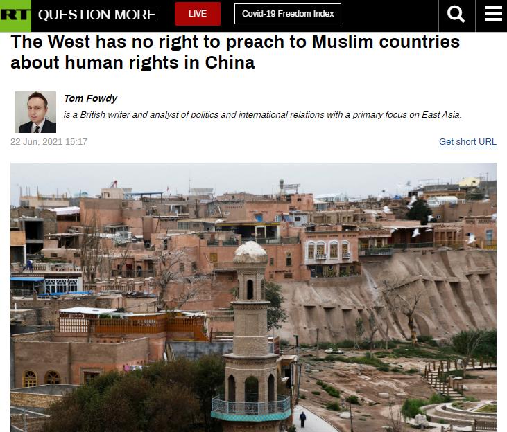 英国学者:西方对穆斯林世界犯下严重罪行 炒作涉疆议题没人信