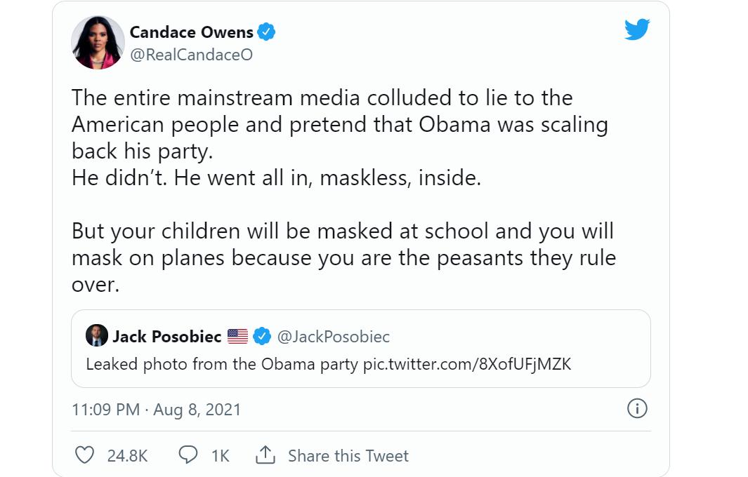 奥巴马60岁生日派对视频流出,主人宾客不戴口罩热舞惹巨大愤怒,美媒出现诡异一幕