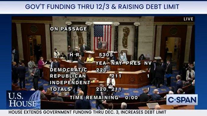 摊牌时刻来临!众议院投票通过暂停债务上限 闯关参议院却比登天还难?